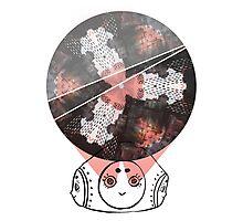 Kaleidoscope Girl Ink-Photo Collage Photographic Print