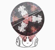 Kaleidoscope Girl Ink-Photo Collage T-Shirt
