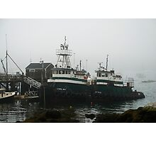 Sea-Going Tugs in Boothbay Harbor Photographic Print