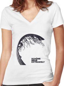Extrawelt - Schone Neue Extrawelt Women's Fitted V-Neck T-Shirt