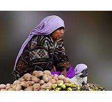 POTATO SELLERS - BHUTAN Photographic Print