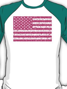 Pink Floral Stars and Stripes T-Shirt