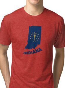 indiana state flag Tri-blend T-Shirt