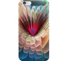 Moon flower, artistic fractal abstract iPhone Case/Skin