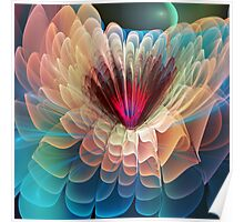 Moon flower, artistic fractal abstract Poster