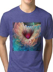 Moon flower, artistic fractal abstract Tri-blend T-Shirt