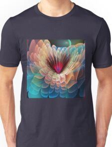 Moon flower, artistic fractal abstract Unisex T-Shirt