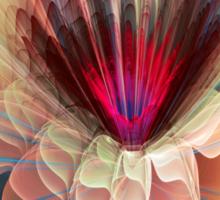 Moon flower, artistic fractal abstract Sticker
