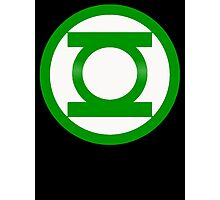 Green Lantern Symbol Photographic Print