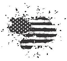 Grunge US Flag Photographic Print