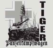 tiger tank Panzerkampfwagen by hottehue
