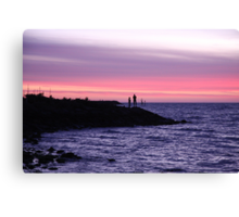Silhouette of Two! Canvas Print