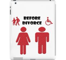 Funny Divorce images and text iPad Case/Skin