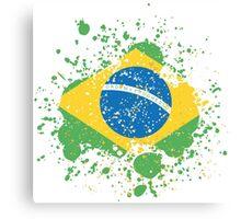 Grunge Brazilian Flag Canvas Print