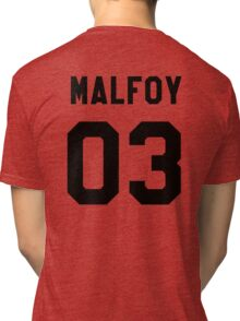 Draco Malfoy Jersey Tri-blend T-Shirt