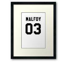 Draco Malfoy Jersey Framed Print