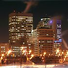 Winnipeg Panorama Night Shot by Stephen Thomas