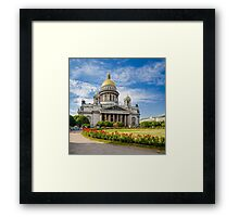 Saint Isaac's Cathedral, Saint Petersburg, Russia Framed Print
