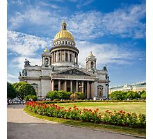 Saint Isaac's Cathedral, Saint Petersburg, Russia Photographic Print