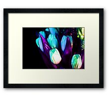 Abstract Purple Blue Tulips Framed Print