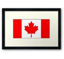 Flag of Canada Framed Print