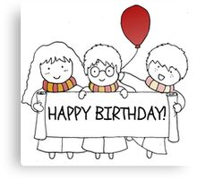 Harry Potter Happy Birthday Canvas Print