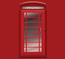 London Red Phone Phone Booth Box  by CroDesign