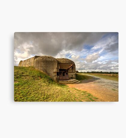 Normandy gun  Canvas Print