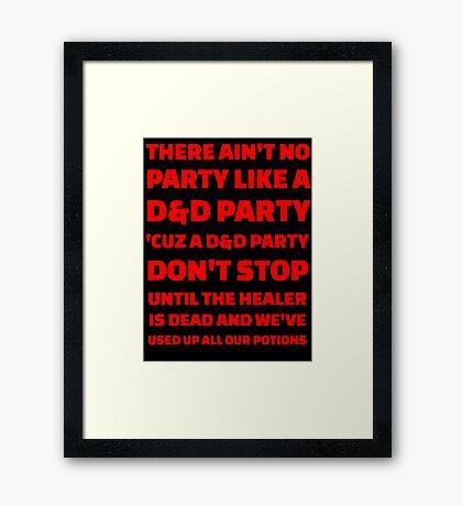 D&D Party Framed Print