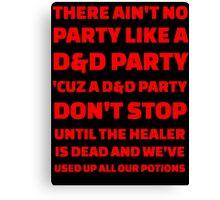 D&D Party Canvas Print