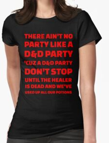 D&D Party Womens Fitted T-Shirt