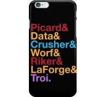 STAR TREK TNG The Next Generation Crew Names Ampersand iPhone Case/Skin