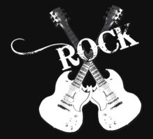 Guitar Rock Shirt by JayBakkerArt