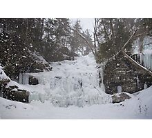 Snowstorm at Ganoga Photographic Print