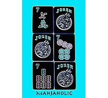 "Lucky Sevens and Jokers ""Mahjaholic"" #10 ~ Mah Jongg Series Photographic Print"