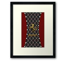 Ferrari ~ Cool Cotton Flag Gold Framed Print