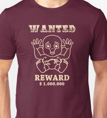wanted reward 1.000.000 dollar Unisex T-Shirt