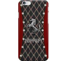 Ferrari ~ Cool Cotton Flag Silver iPhone Case/Skin
