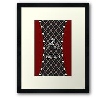 Ferrari ~ Cool Cotton Flag Silver Framed Print