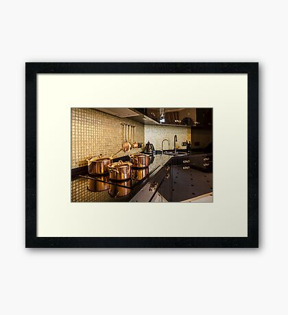 luxury  kitchen Framed Print