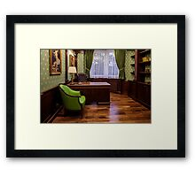 Office of boss Framed Print