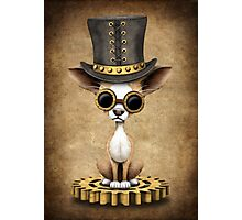 Cute Steampunk Chihuahua Puppy Dog Photographic Print