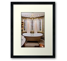 interior bathroom in classic style Framed Print