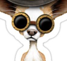 Cute Steampunk Chihuahua Puppy Dog Sticker