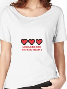3 Hearts Are Better Than 1 Women's Relaxed Fit T-Shirt