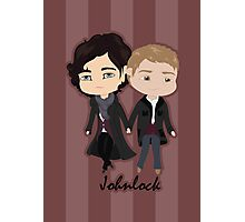 Chibi Johnlock Photographic Print