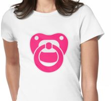 Pink pacifier Womens Fitted T-Shirt
