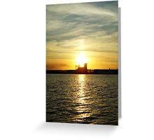 Lake Superior Sunset, Duluth/Superior Harbor Greeting Card