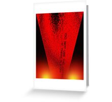 The road to hell is paved with good intentions... Greeting Card
