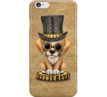 Cute Steampunk Golden Retriever Puppy Dog iPhone Case/Skin